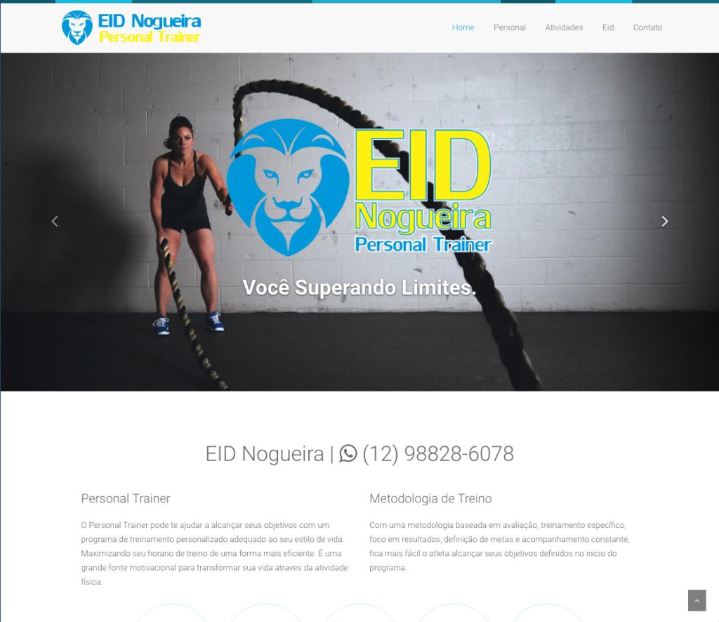 Personal trainer Eid Nogueira