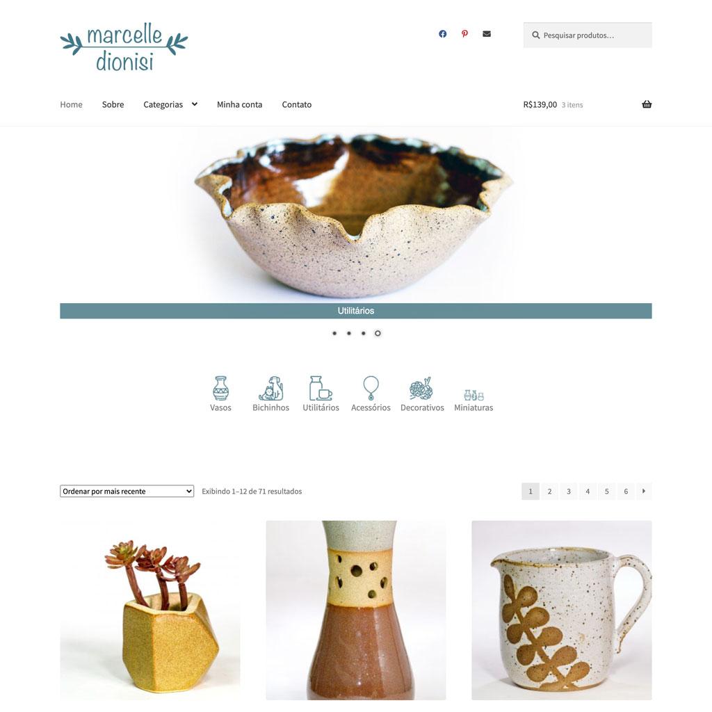 Marcelle Dionisi Ceramica artesanal alta temperatura